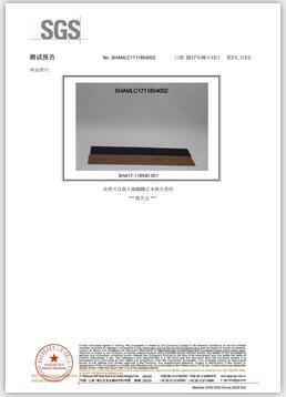 VOC中文SGS证书
