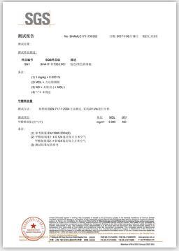 甲醛中文sgs证书